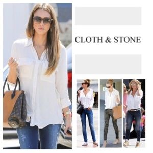 Cloth & Stone split back button up: Anthropologie